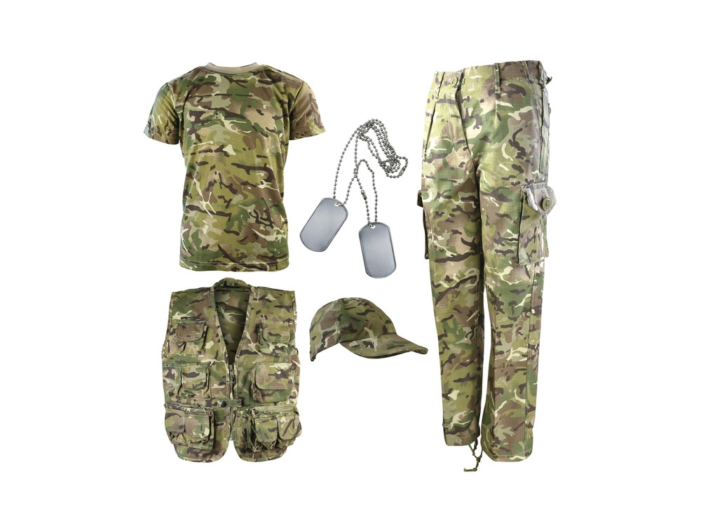 kombat kids camouflage army kit - btp