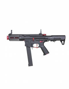g&g arp9 red super ranger aeg with 5″ m-lok rail fire